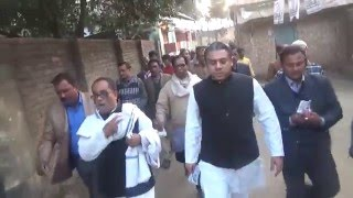 Mass Contact for Awami League nominated Mayor candidate for Badarganj municipal election.