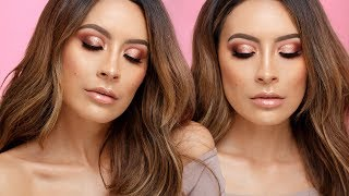 ROSE GOLD NEW YEARS EVE MAKEUP | DESI PERKINS