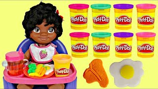 High Chair BABY MOANA, Maui Play-doh Noodle Makin