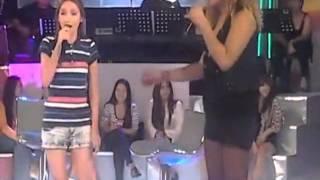 Filipina Girl Sing Love on Top