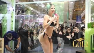 Gota Dourada - Banho Oficial da Cacau na Beauty Fair