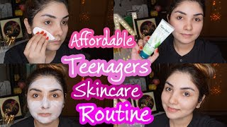 Affordable Teenagers Skincare Routine Under 500Rs || Skincare Routine For All Skintype in urdu/hindi