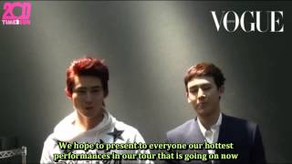 [TIME2SUB] 130125 Nichkhun & Taecyeon in Vogue Magazine - March Issue - Special Message (eng subs)