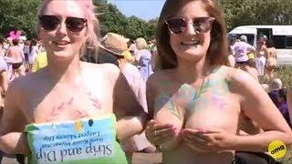 Skinny Dip World Record   Nude Beaches   Nudist Beach