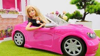 ŞOK - Barbie uyanamıyor ve işe geç kalıyor 💤 ☕. #Barbieoyunları ve oyuncak bebek #giydirmeoyunu 👗