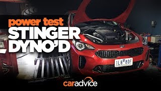 Kia Stinger turbo V6 on the dyno! Surprised with the numbers?