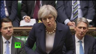 Corbyn and May debate Trump & NHS at #PMQs FULL