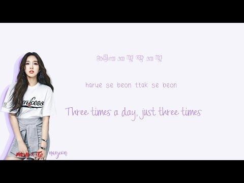 TWICE - Three Times A Day Lyrics (하루에 세번) Han|Rom|Eng Color Coded