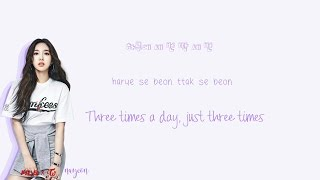 twice three times a day lyrics han rom eng color coded