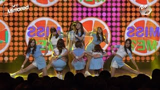 [Mirrored MPD직캠] 아이오아이 너무너무너무 거울모드 직캠(안무영상) I.O.I VeryVeryVery Choreography Fancam @엠카운트다운_161103