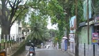 Drive through Mahe, Kerala, India