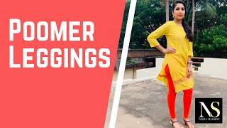 Poomer leggings Review | One Kurti Four different colour leggings
