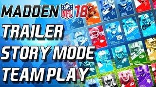 Madden 18 TRAILER + NEWS! Story Mode Team Play Ultimate Team - Madden 18 News