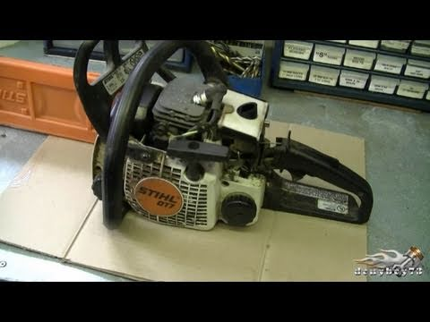 HOW TO Carburetor & Fuel Line Repair on STIHL 017 MS170 018 M180 Chainsaw Part 1 3