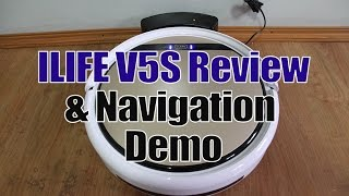 ILIFE V5S (or the V5 Pro) Features and a Short Navigation Demo