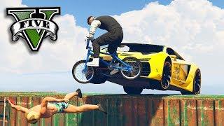 GTA V Online: BMX vs CARROS - O DOUBLE KILL INSANO!!!