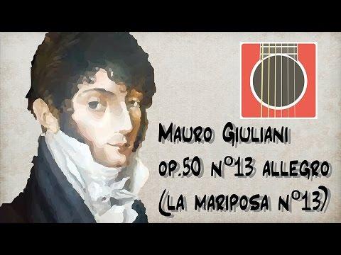 Xxx Mp4 Como Tocar Mauro Giuliani Op 50 Nº13 Allegro La Mariposa Nº13 Tab Guitarbn 3gp Sex