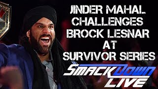 WWE Smackdown 10/17/17 Full Show Review: JINDER MAHAL CHALLENGES BROCK LESNAR AT SURVIVOR SERIES