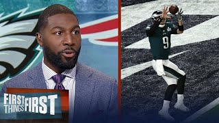 Greg Jennings on the key Nick Foles TD reception during Super Bowl LII | FIRST THINGS FIRST