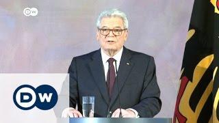 خطاب الوداع للرئيس الألماني   الأخبار