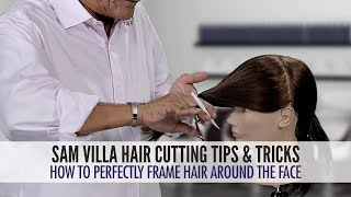 How To Easily Frame Hair Around The Face Using a Twist Cutting Technique