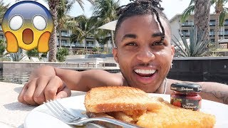 Am I On Vacation With My Ex... (THE TRUTH) | Breakfast Mukbang in THE POOL