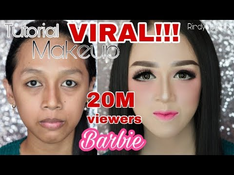 Tutorial makeup BARBIE makeup kekinian RindyNellaKrisna