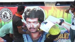 #Bairavaa #Movie #Release #FDFS #Vijay #Fans #Celebrations #KasiTheatre | #TOC