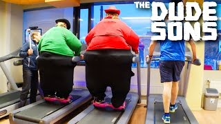 Fatsons On Hoverboards At The Gym Prank! - The Dudesons