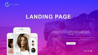 How To Make Website Using HTML, CSS And Bootstrap | Landing Page Website