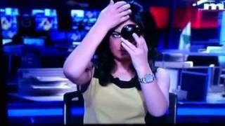 Mona Saliba live mistake on MTV Lebanon
