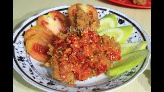 Ayam geprek krispy sambel bawang
