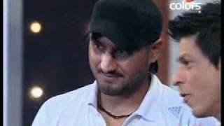 SAHARA IPL - King Khan with Bhajji - 23 May 2010