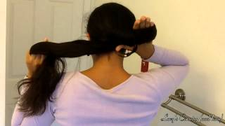 10 SECOND NO-PIN BUN: nautilus for very long hair | Lucy's Corsetry