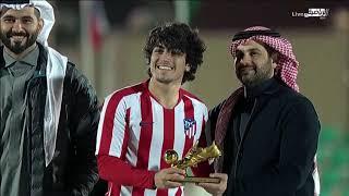 تتويج فريق اتلتيكو مدريد بالمركزالأول و سبورتنغ لشبونه بالمركز الثاني في بطولة كاس القادة السعودي