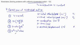Kinematics - accelerated motion (1/3) - (IB Physics, AP, GCSE, A level)