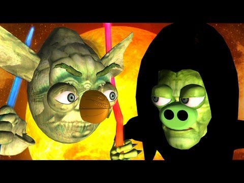 Game Mashup ANGRY BIRDS STAR WARS MORTAL KOMBAT part3 ♫ 3D animated ☺ FunVideoTV Style ;