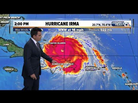 Hurricane Irma 2pm update: 9/7/17