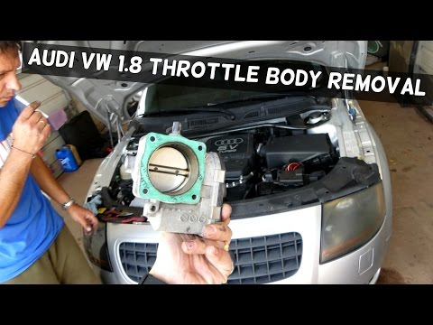 AUDI VW 1.8 HOW TO REMOVE REPLACE THROTTLE BODY