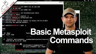 Basic MSF Console Commands - Metasploit Minute
