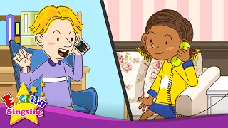 [Telephone Conversations] May I speak to Kate? I'll call back later. - Easy Dialogue for Kids