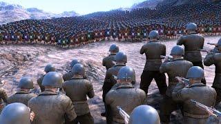 10.000 WW2 U.S. SOLDIERS vs 50.000 ROMANS - Ultimate Epic Battle Simulator