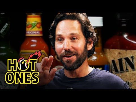 Paul Rudd Does a Historic Dab While Eating Spicy Wings Hot Ones