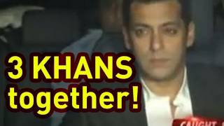Salman, Aamir, Shahrukh Khan get together for Dilip Kumar's party