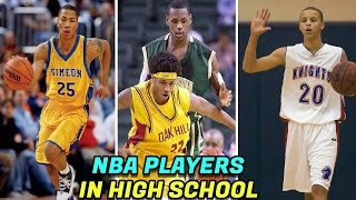 NBA STARS When They Were In HIGH SCHOOL! LeBron James, Steph Curry, Carmelo Anthony