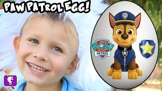 Giant PAW PATROL Surprise Egg! Funny Goat Adventure + Toy Reviews with HobbyKidsTV
