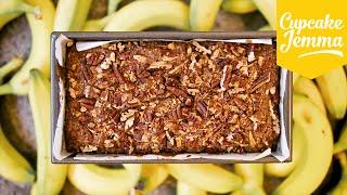 Crunchy Pecan Topped Banana Bread Recipe | Cupcake Jemma