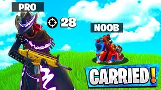 Getting carried by UNDERRATED Fornite Mobile Pro..