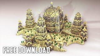 Minecraft Timelapse | Speedbuild Free / Creative / Citybuild - Spawn 2/3 + Free Download [HD]