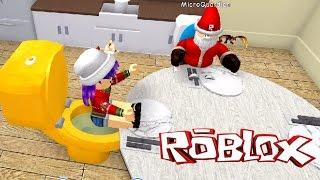 ROBLOX MEEP CITY | SANTA HAS A BABY & THE GOLDEN TOILET | RADIOJH GAMES & MICRO